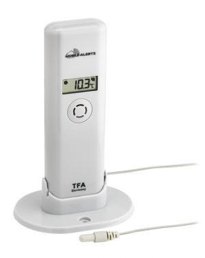 Предавател за температура и влажност с водоустойчив кабелен сензор и дисплей, предназначен за система WEATHER HUB TFA/ Арт.№30.3304.02